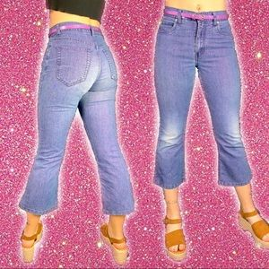Y2K Sparkly Cropped Jeans